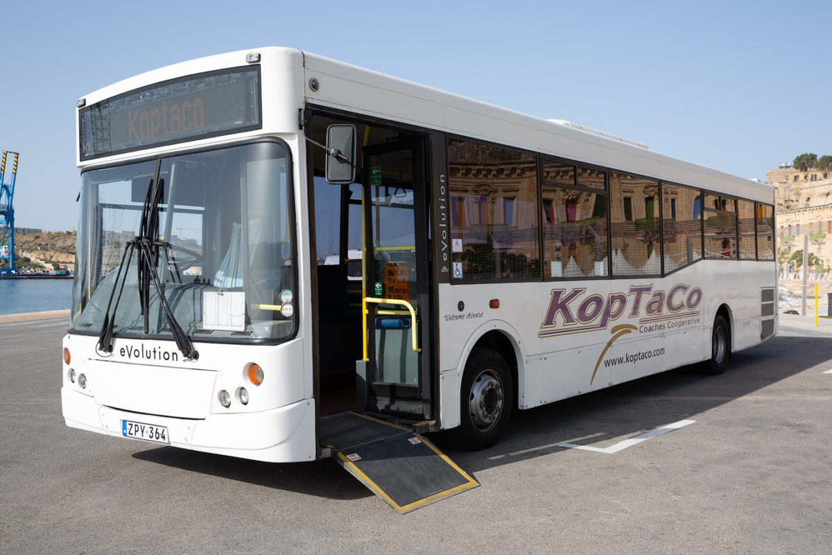 koptaco bus transportation malta gozo weelchair accessible