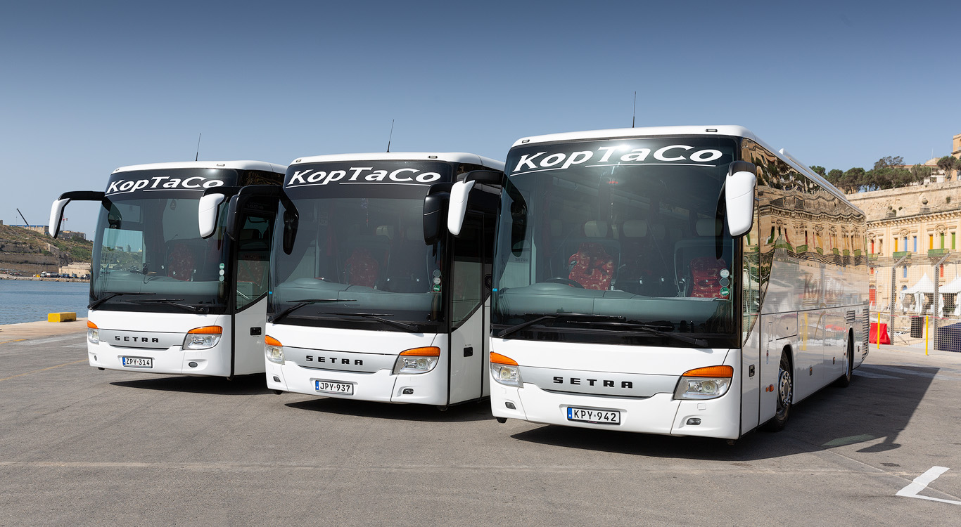 koptaco coaches transport services bus minibus point to point transfers mutiple stops