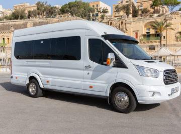Koptaco hire minibus 16seater malta tours transfers airport