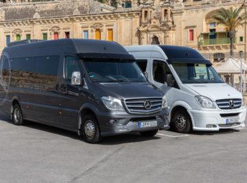 koptaco hire coaches bus minibus 18 seater service malta