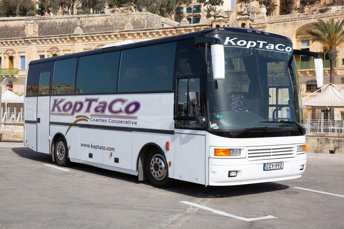 koptaco bus company malta 36 seater executive bus transportation airport