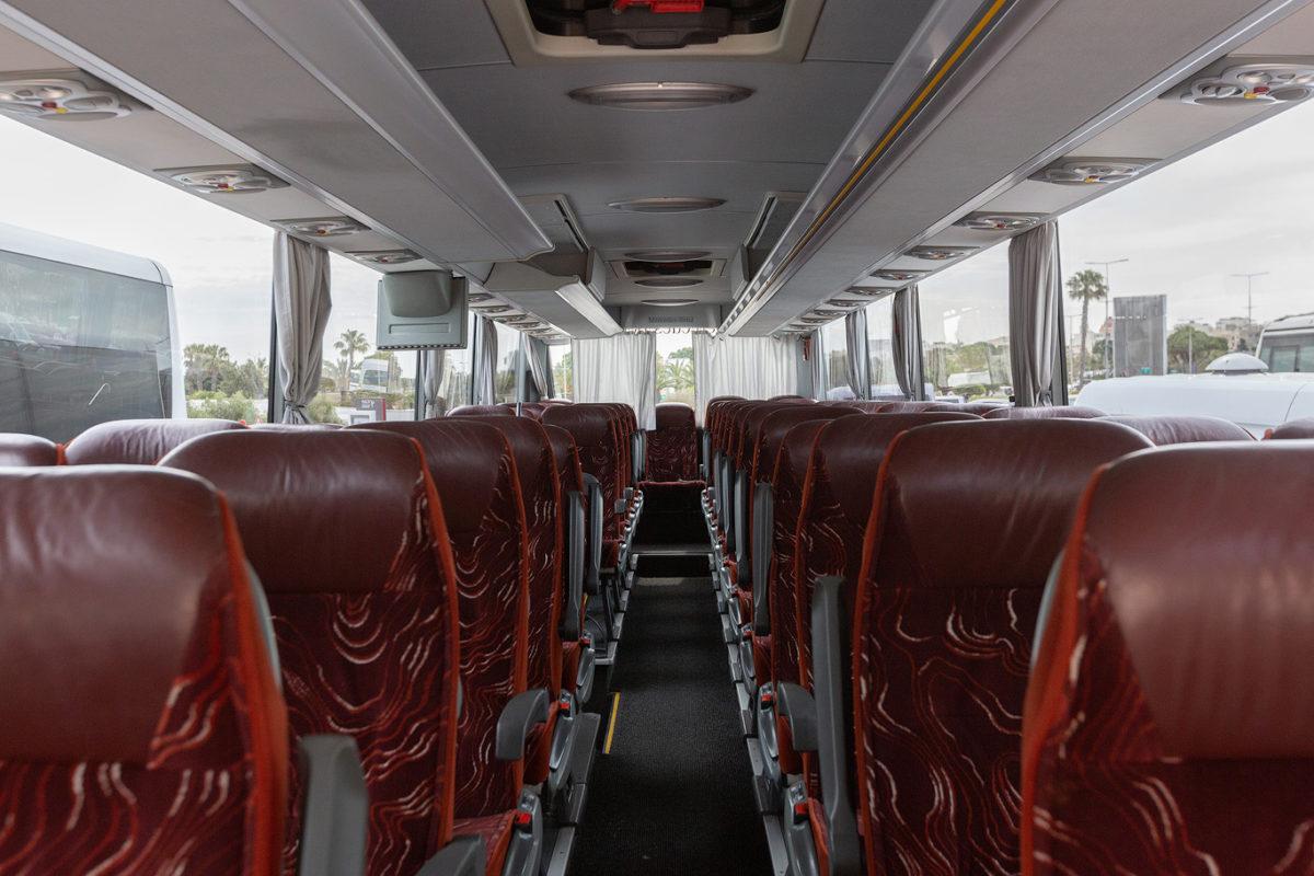 koptaco hire 36 seater executive bus air conditioning wifi usb malta tours