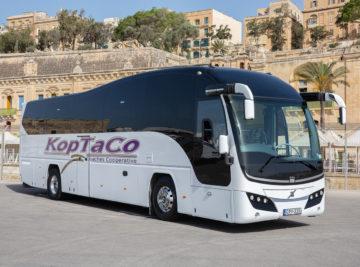 koptaco coaches transportation 53 seater Executive bus minibus from malta