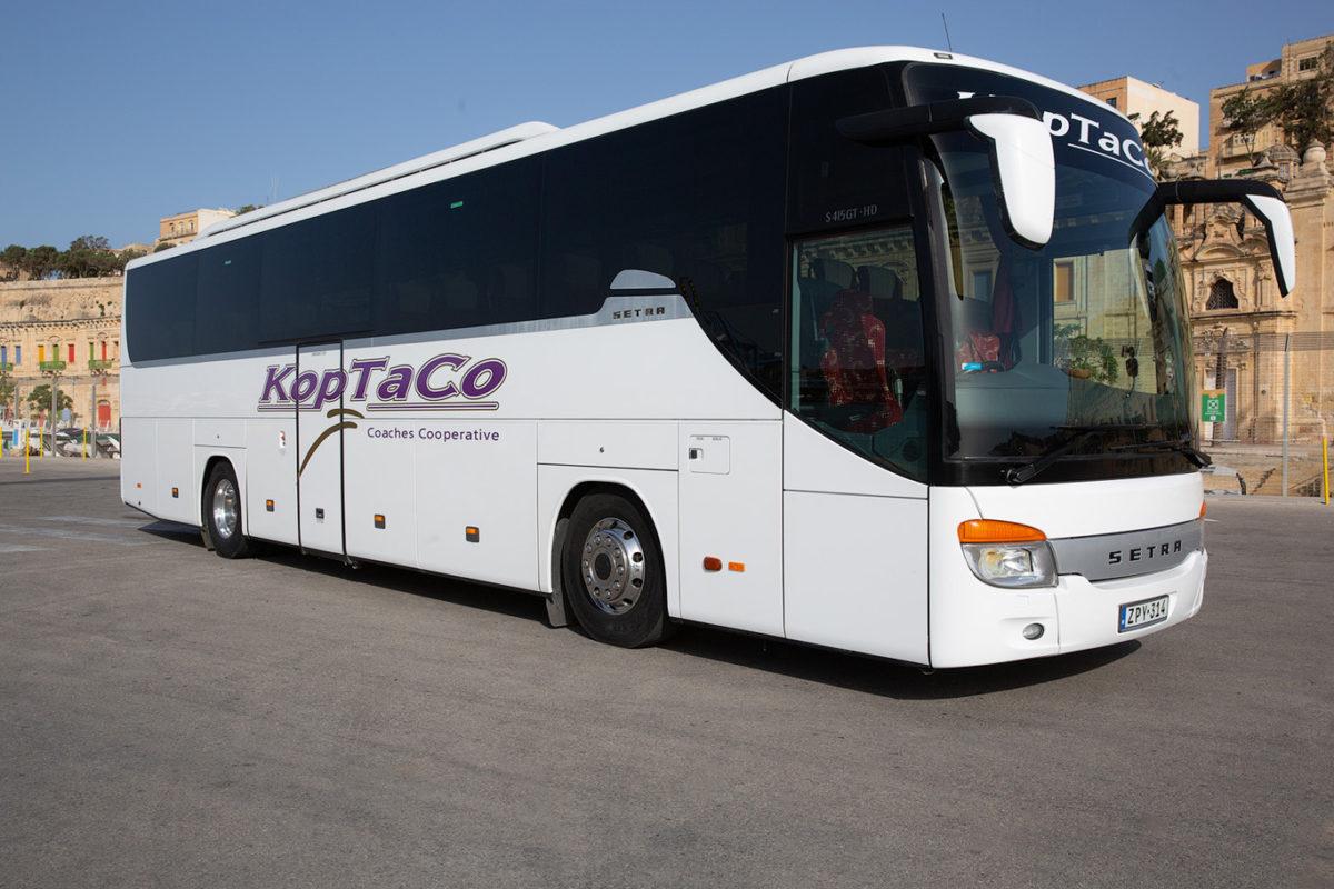 koptaco coaches bus hire 53 seater executive malta transfers tours