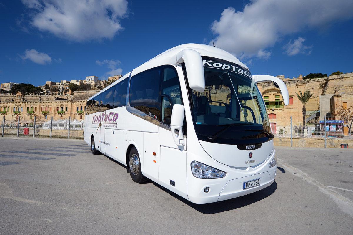 koptaco coaches company in malta bus 53 seater transport