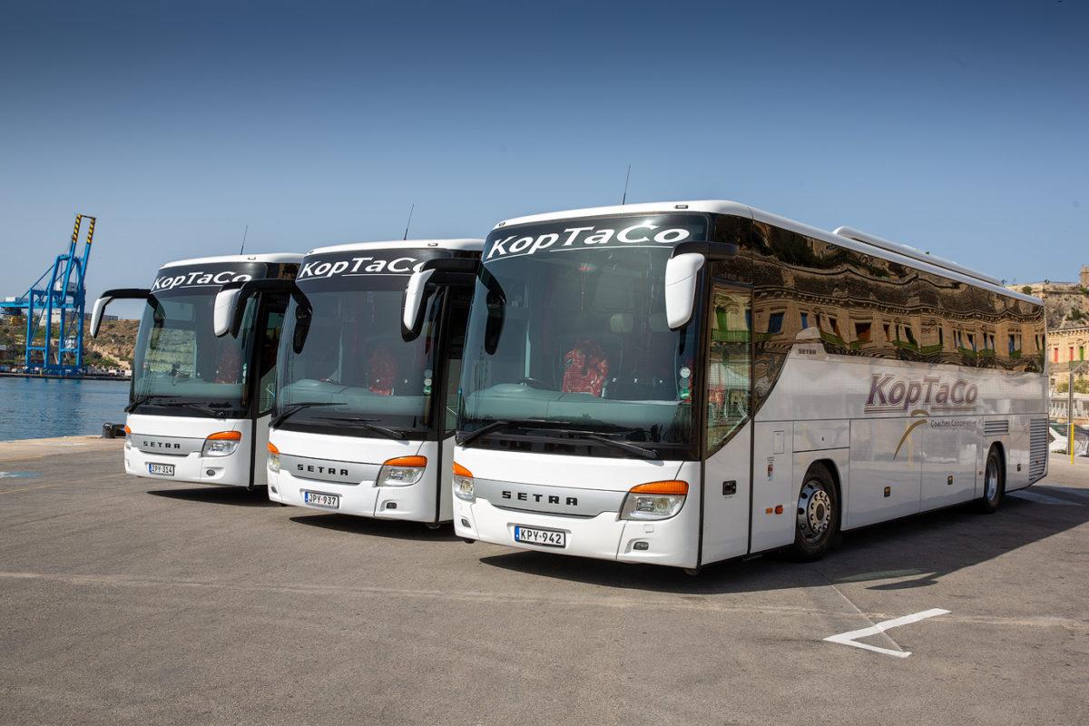 koptaco transportation coaches malta gozo 53 seater executive visit tours service