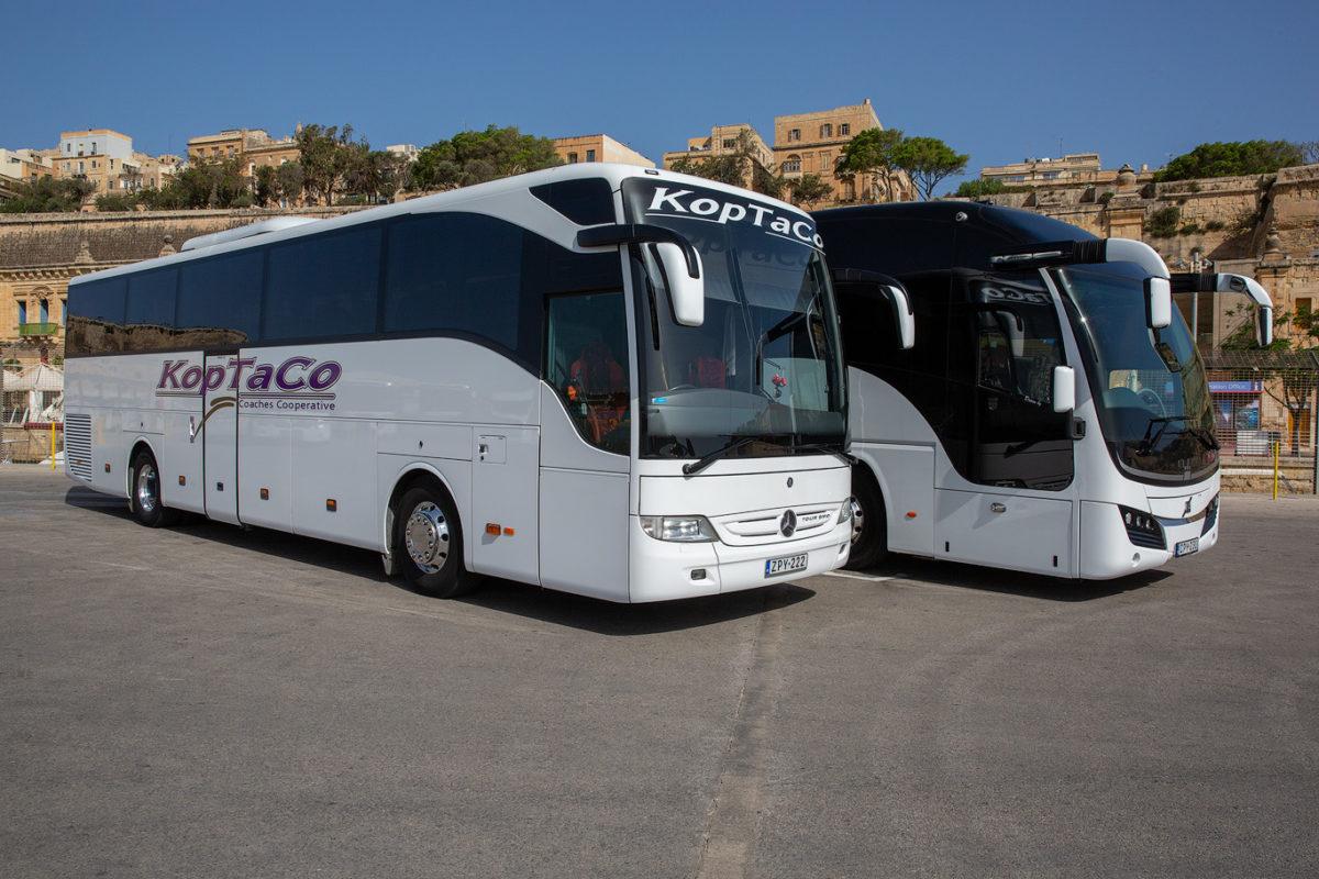 koptaco transport bus company malta 53 seater executive