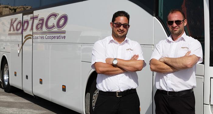 koptaco driver bus malta transport transfer airport