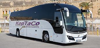 koptaco bus point to point transportation services malta airport