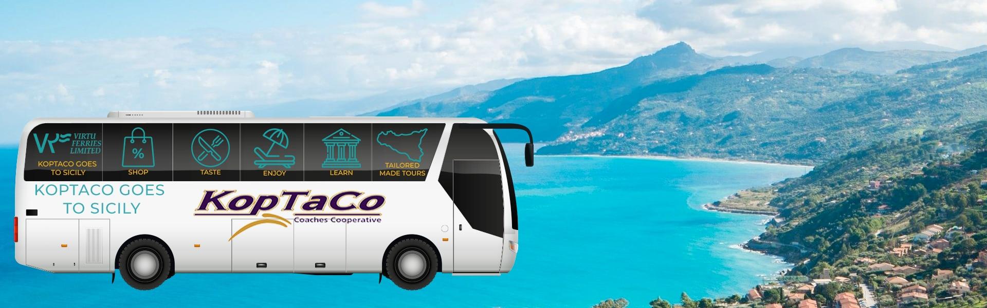 koptaco-goes-to-sicily-tour-bus-catamara-virtu-ferries-malta-italy-transport-boat